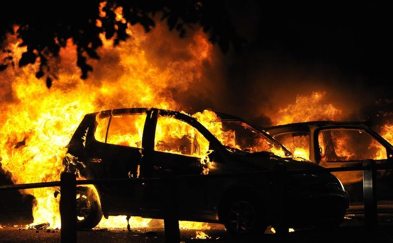 В Гродно сожгли автомобиль