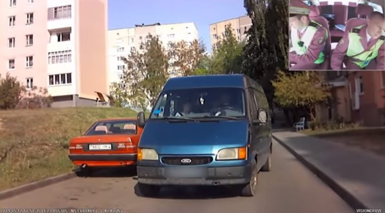 В Гродно пьяный бомж угнал микроавтобус