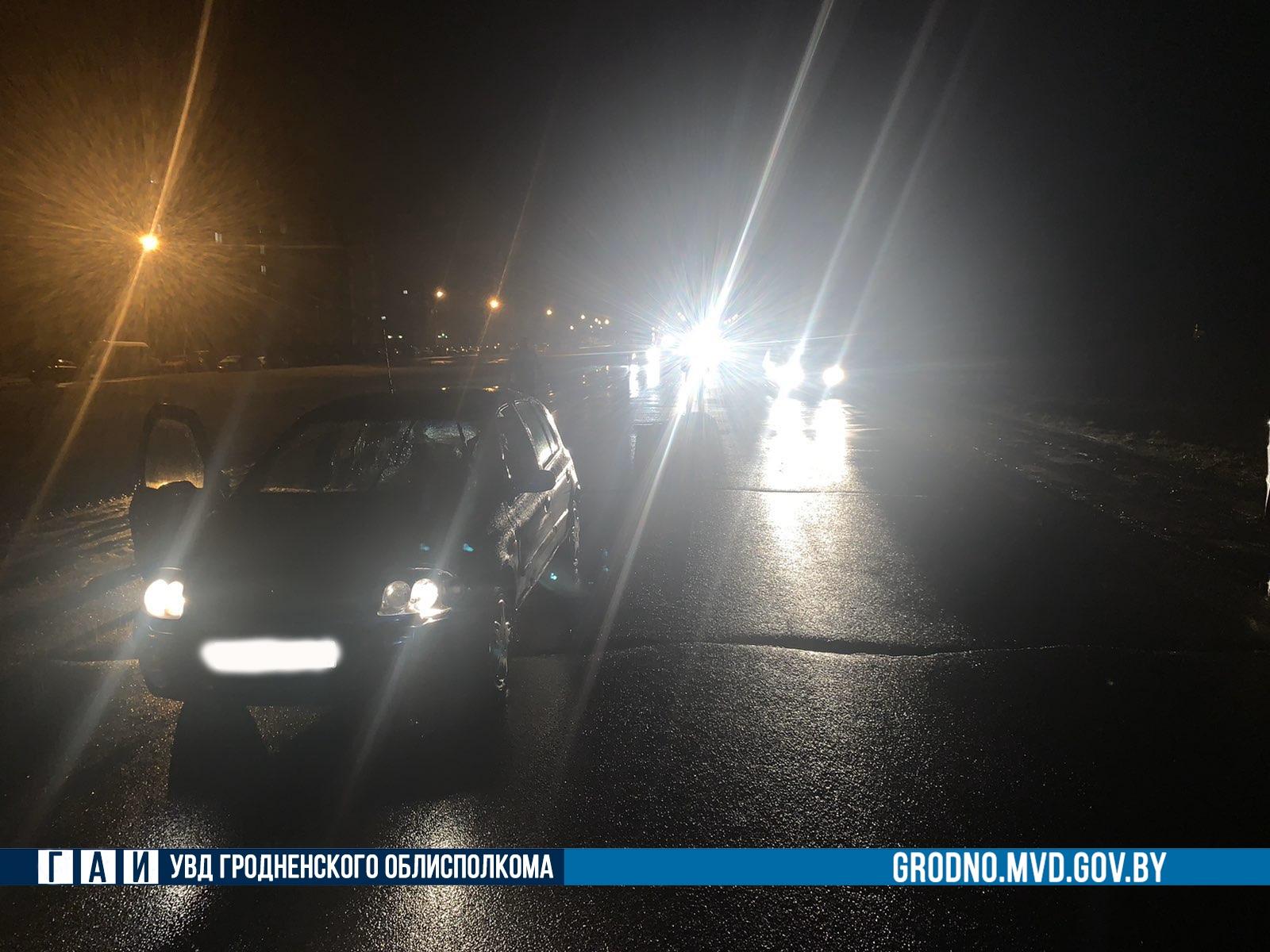 В Лиде ночью вне пешеходного перехода сбили мужчину