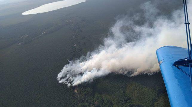 Под Лидой произошел крупный торфяной пожар