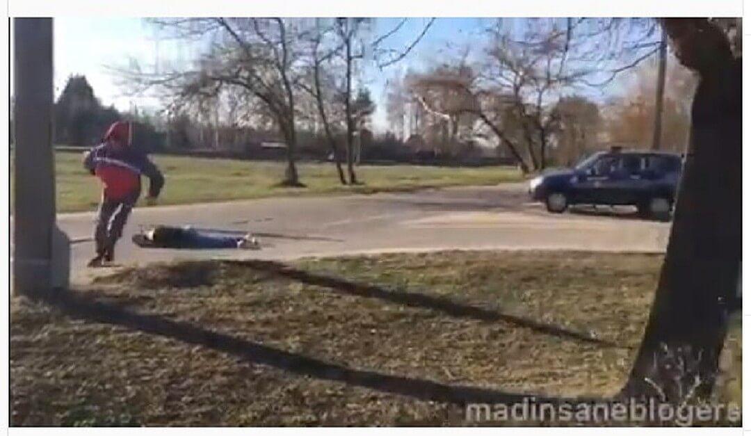 В Лиде подростки разыграли убийство перед милицией