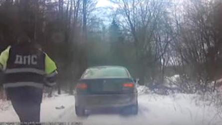 Наркоман на BMW уходил от преследования по лидским лесам